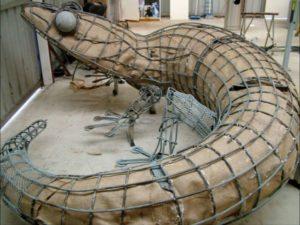 скелет крокодила