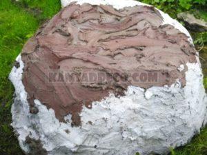 Нанесение цветного бетона
