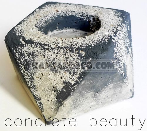 отливка из бетона-подсвечник