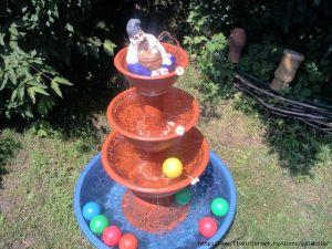 фонтан из пластик. ваз
