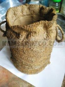 ваза из мешковины