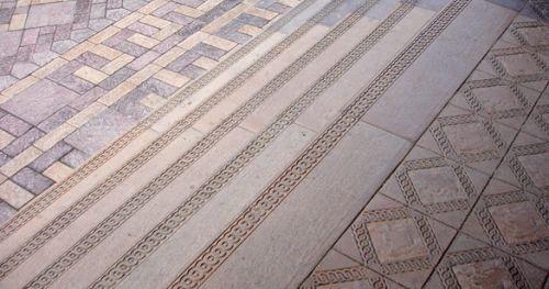 Окраска бетона в тротуарной плитке