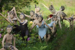 бетонные скульптуры детей