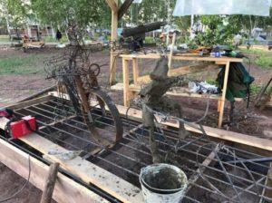 Скелет бетонной фигуры - Проволочный велосипед