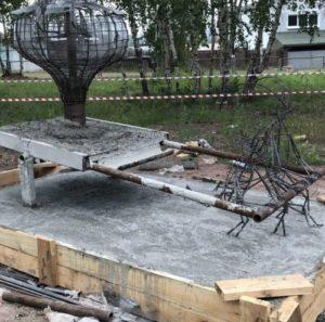Основание бетонной фигуры