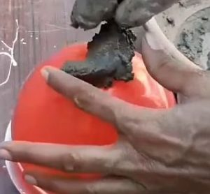 бетонные шары - начало работы