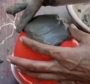 бетонные шары - процесс