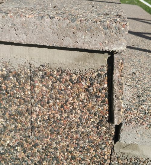 технология мытый бетон - ступени