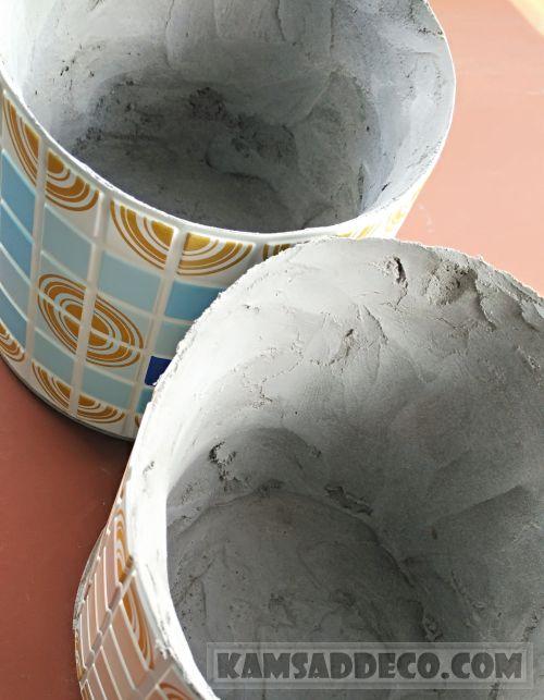 горшки из бетона в формах