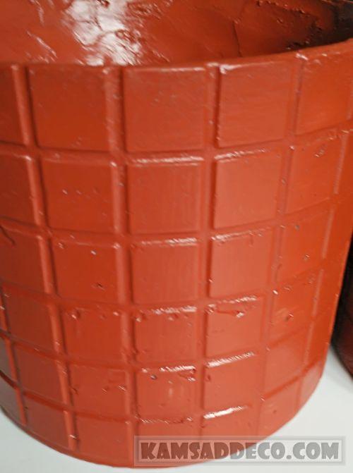 горшок из бетона 2 окрашен