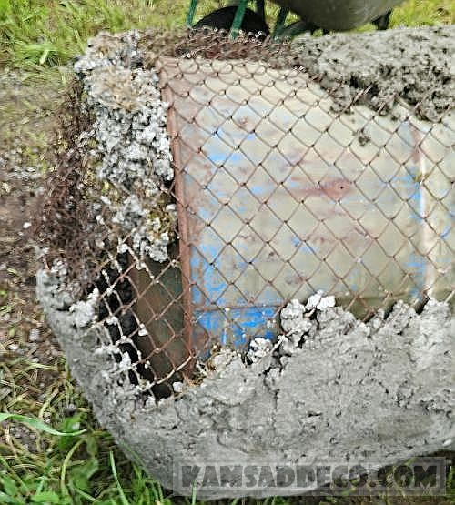 бетон на сетке 1