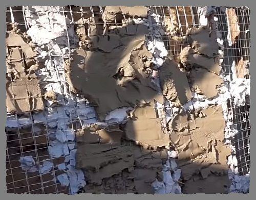 базовый слой стены под камень