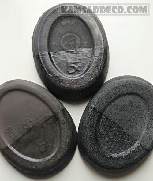 черный бетон и лак по камню