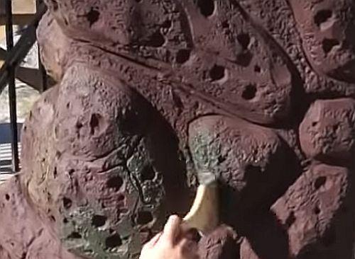 имитация мха на камне