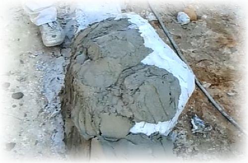 наброс цементной смеси