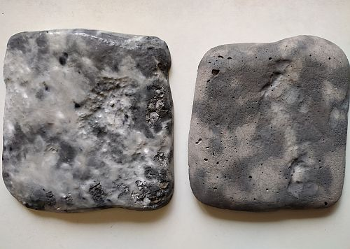 мрамор из бетона с дефектами