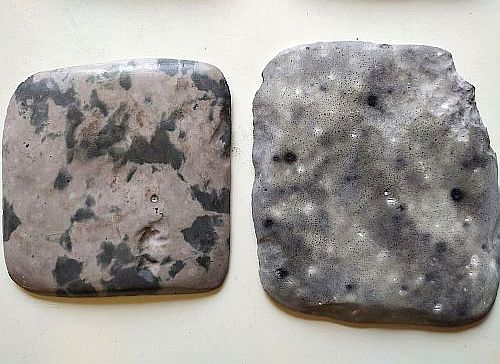 мрамор из бетона - сравнение