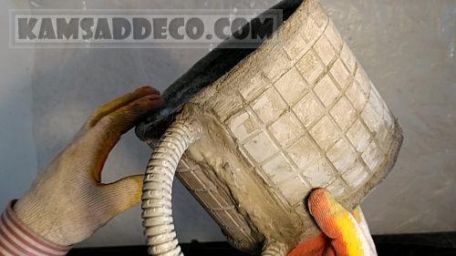 Цементный горшок без дна после сушки