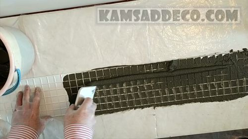 заполняем цементом форму