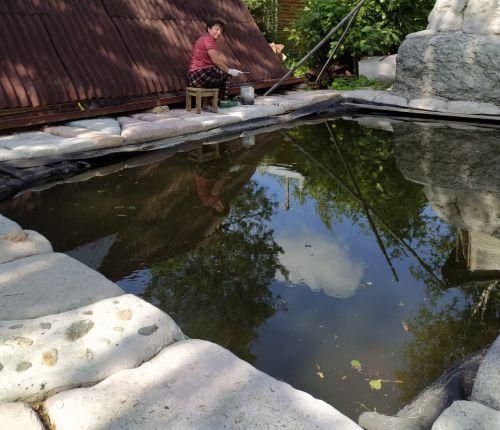 Грунтовой бассейн на даче