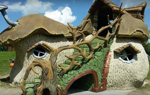 сказочный домик гриб