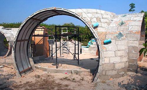 круглый дом - начало строительства