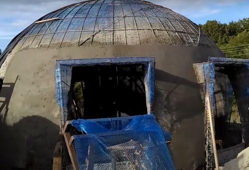 купол бетонный с помощью хопер-ковша2