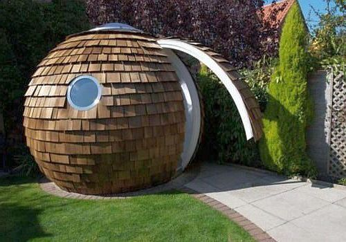 обшитый маленький купол