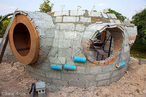 перекатываемые утяжелители для стен круглого дома