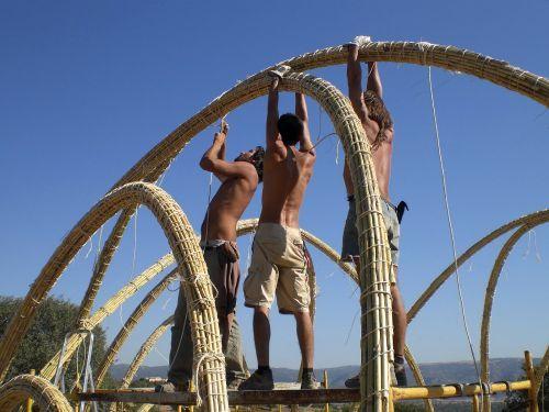 скелет из бамбука