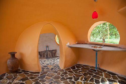 внутренний интерьер в сферах круглого дома