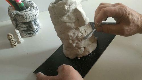 Лепим из полимерной глины элементы лица