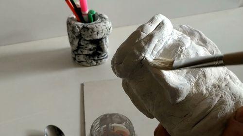 Начальная окраска вазы-головы